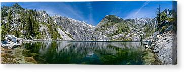 Upper Canyon Creek Lake Panorama Canvas Print