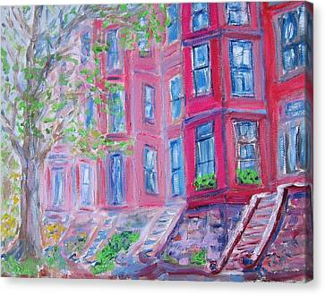 Upper West Side Brownstones Canvas Print