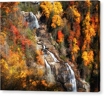 Upper Whitewater Falls Canvas Print by Lynne Jenkins
