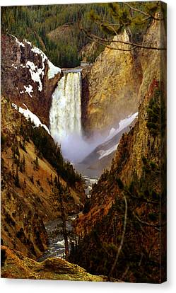 Upper Yellowstone Falls Canvas Print by Ellen Heaverlo