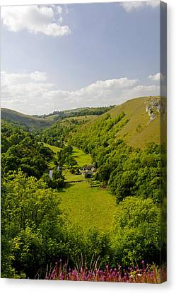 Upperdale From Monsal Head Canvas Print by Rod Johnson