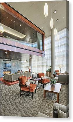Upscale Modern Lobby Canvas Print by Andersen Ross