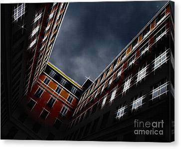 Urban Drawing Canvas Print by Hannes Cmarits