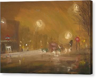 Urban Mist 1 Canvas Print by Paul Mitchell