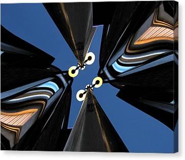 Lamp Post Canvas Print - Urban Night Lights by Tim Allen