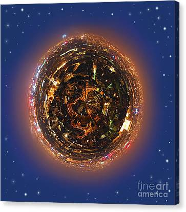 Sphere Canvas Print - Urban Planet by Elena Elisseeva