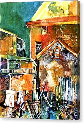 Canvas Print featuring the painting Urban Sprawl 2 by Rae Andrews