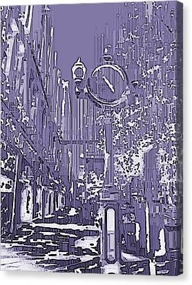 Urban Timepiece Canvas Print by Tim Allen