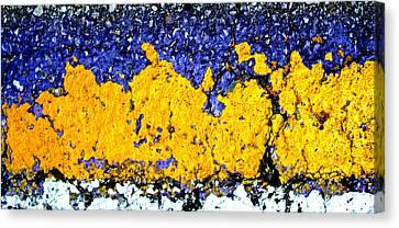 Urban Yellow Trees Canvas Print by David Clanton