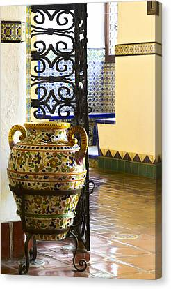 Urn Canvas Print by Bernard  Barcos