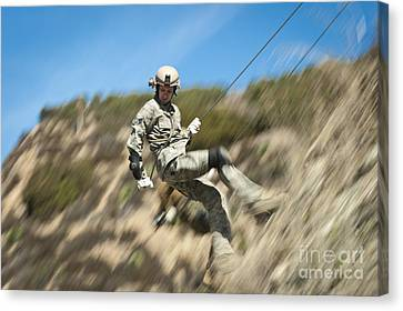 U.s. Air Force Airman Practices Canvas Print by Stocktrek Images