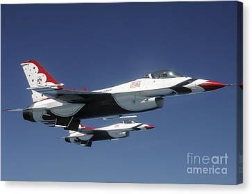 U.s. Air Force F-16 Thunderbirds Canvas Print by Stocktrek Images