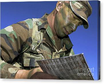 U.s. Air Force Lieutenant Reviews Canvas Print by Stocktrek Images