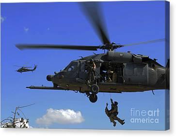 U.s. Air Force Pararescuemen Canvas Print by Stocktrek Images