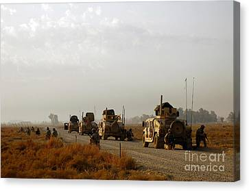 Iraq Canvas Print - U.s. Air Force Security Forces Airmen by Stocktrek Images