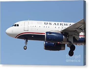 Us Airways Jet Airplane  - 5d18394 Canvas Print by Wingsdomain Art and Photography