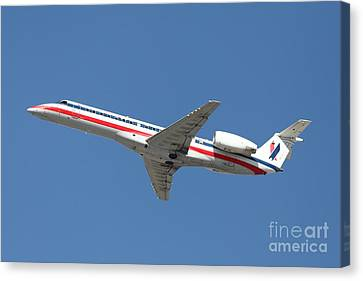 Us Airways Jet Airplane  - 5d18405 Canvas Print by Wingsdomain Art and Photography