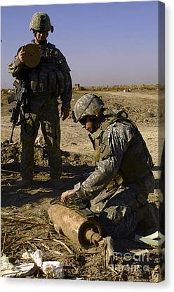 U.s. Army Soldiers Preparing Canvas Print by Stocktrek Images