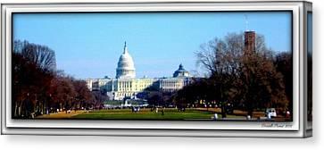 Canvas Print featuring the photograph U.s. Capitol Building by Danielle  Parent