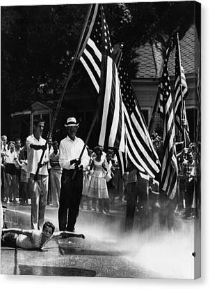 Us Civil Rights. Demonstrators Canvas Print by Everett