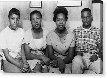 Us Civil Rights. From Left High School Canvas Print by Everett