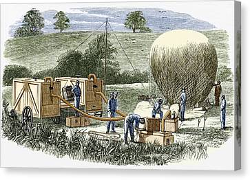 Us Civil War Observation Balloon Canvas Print by Sheila Terry