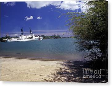 Law Enforcement Canvas Print - U.s. Coast Guard Cutter Jarvis Transits by Michael Wood