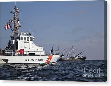 U.s. Coast Guard Cutter Marlin Patrols Canvas Print by Stocktrek Images