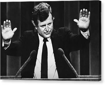 Us Elections. Us Senator Edward Kennedy Canvas Print by Everett