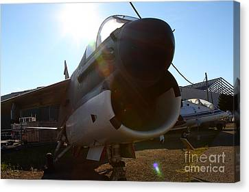Us Fighter Jet Plane . 7d11296 Canvas Print by Wingsdomain Art and Photography