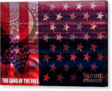 U.s Is On The Continent Canvas Print by Fania Simon