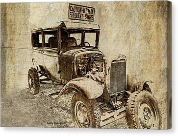 U.s. Mail Truck Canvas Print by Kathy Jennings