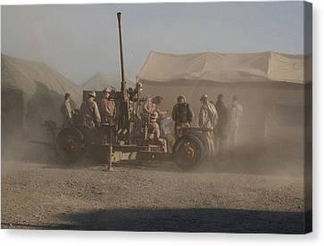 U.s. Marines At A Forward Operating Canvas Print