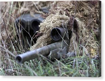 U.s. Marines Practice Stalking Canvas Print