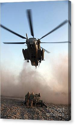 U.s. Marines Preparing To Attach An Canvas Print by Stocktrek Images