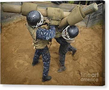 U.s. Naval Academy Plebes Compete Canvas Print by Stocktrek Images