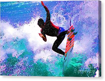 Kelly Slater Canvas Print - Us Open Of Surfing 2012 by RJ Aguilar