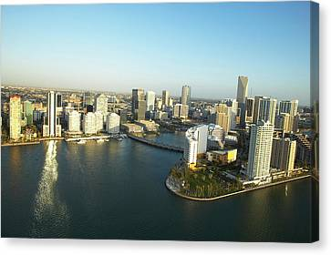 Usa, Florida, Miami, Downtown, Aerial View Canvas Print by George Doyle