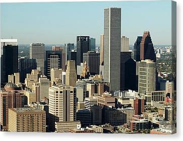 Usa, Texas, Houston, Dwontown, Aerial View Canvas Print by George Doyle