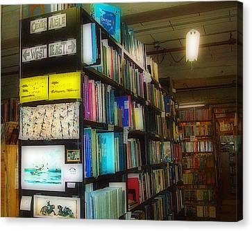 Canvas Print featuring the photograph Used Books - Dream On by MJ Olsen