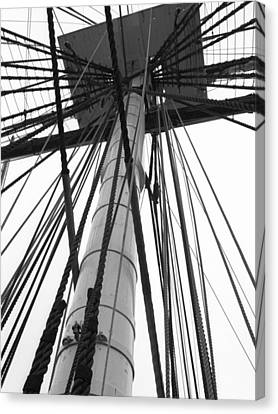 Uss Constitution Mast Canvas Print by David Yunker