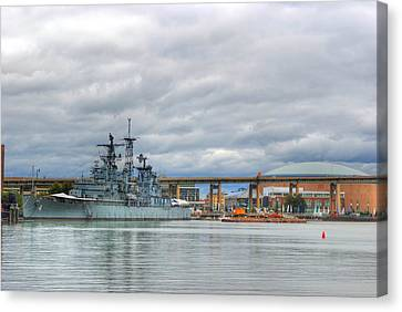 Canvas Print featuring the photograph Uss Little Rock by Michael Frank Jr