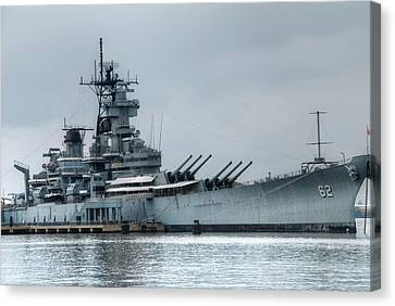 Warship Canvas Print - Uss New Jersey by Jennifer Ancker