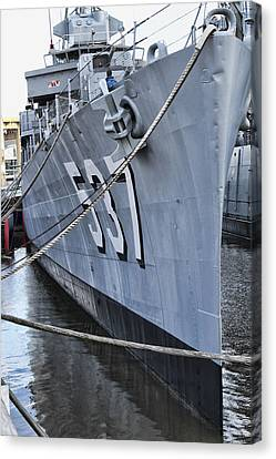 Uss The Sullivans Canvas Print