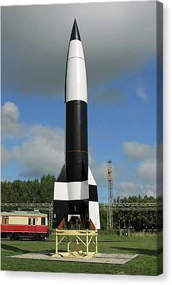 V-2 Rocket Display, Peenemunde Canvas Print by Detlev Van Ravenswaay