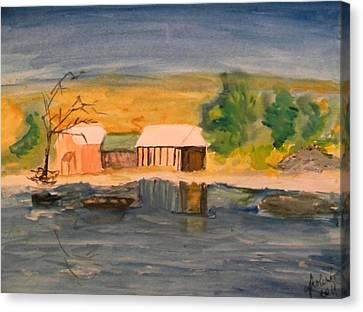 Vacation Cottage Canvas Print by Carmen Kolcsar