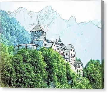 Vaduz Castle Vaduz Lichtenstein Canvas Print by Joseph Hendrix