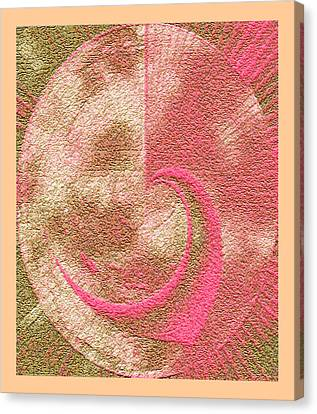 Canvas Print featuring the painting Valentine Planet Fantasy by Richard James Digance