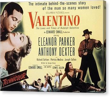 Fid Canvas Print - Valentino, Anthony Dexter, Eleanor by Everett