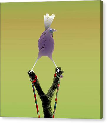 Valiant Bird Canvas Print by Asok Mukhopadhyay